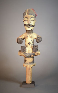 Authentic African Tribal IGBO Puppet staff. Nigeria.
