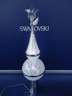 Swarovski - Christmas peak - 3 Christmas tree baubles - very rare.