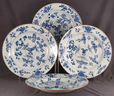 Set of four identical plates, China, circa 1750, Qianlong era (1735-1796)