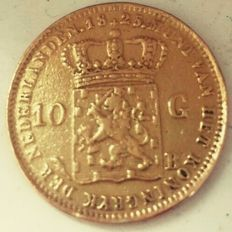 The Netherlands – 10 guilder coin 1825B Willem I – gold