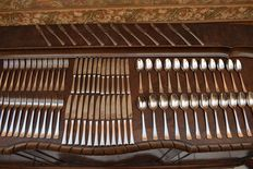 Christofle Paris - 12 persons / 84-piece Art Deco cutlery
