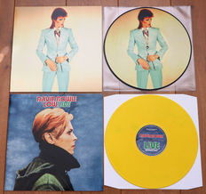 David Bowie- Lot of 2 special releases: Unreleased Demos 1966-1970 picture disc lp (special limited edition of 200 copies for Ziggy Stardust Nippon) & Low Live (The Low album played for the 1st time in it's entirety, on yellow wax!)