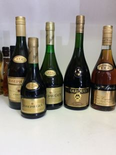 80s & 90s *** Cognac , France, 5 bottles 1,l, 0,7l , 0,35l 40% Vol