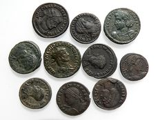 Roman Empire - Collection of 10 late roman coins