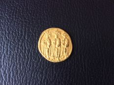 Byzantine empire - Heraclius (AD 610-641), gold solidus, Constantinopel, 'Three kings' issue from 2nd Officina