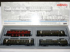 Märklin H0 - 2860 - Electrical locomotive with 3 express carriages Ep 5 of the Bayerischer Staatsbaan