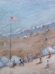 Willard Leroy Metcalf (1858 - 1925) - Plage De Bexhill On Sea