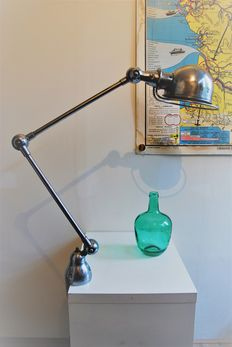 Jean-Louis Domecq for Jieldé – two-armed industrial light with clamp base