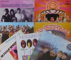 Set of 7 classic albums out of the Top 10 albums of 1967!!; The Beatles (2), The Rolling Stones (2), Jimi Hendrix Experience, Buffalo Springfield and Jefferson Airplane