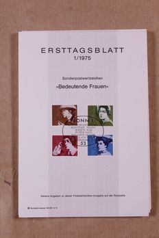 Federal Republic of Germany 1975/2001 – Complete collection of 925 First Day Sheets