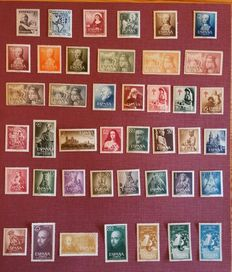 Spain 1950s – Lot of complete series in album sheets