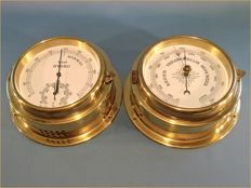 Large Brass Nautical Boat-set Set , Barometer-Thermometer-Hygrometer