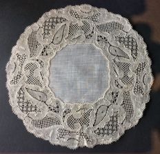 Binche lace in fine linen from Bruges, Belgium, circa 1900