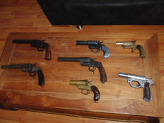 My Complete Colection of 7 Antique Flare/Signal Pistols -  All pre 1945