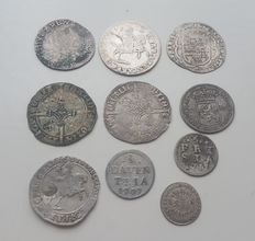 Provincial – Lot with various coins, 14th century up to 1759 (10 pieces) – silver