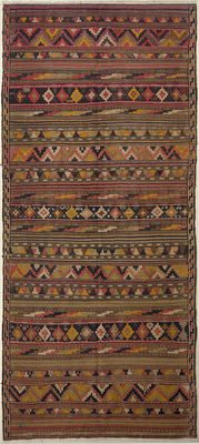 Handwoven antique kilim – 347 x 165 – south Iran – 30-70 years old
