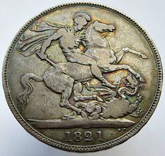 United Kingdom - Crown 1821 George IV - silver
