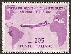 "Italy, 1961 – ""Pink Gronchi"" – visit of the President of the Republic to Peru"