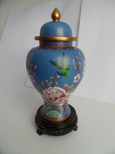Cloisonné base - China - 2nd half of the 20th century