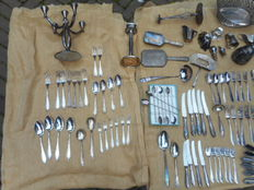 Silver plated cutlery and other utensils from the twentieth century. Kempen and Begeer, Gero, Keltum and WMF