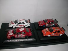 Minichamps- Scale 1/43 - Lot with 4 models: 4 x Alfa Romeo DTM 155 V6 TI  !993 & 1996