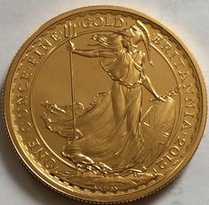 United Kingdom - 100 Pounds 2012 'Britannia' 1 oz gold