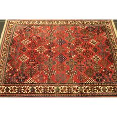 Beautiful old Persian carpet Mey Mey made in Iran 220 x 320 cm around 1950 natural colours in good condition / fine cork wool carpet Tappeto Tapis rug