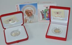 Vatican City, 2 and 10 euro, 2015, (two coins), silver