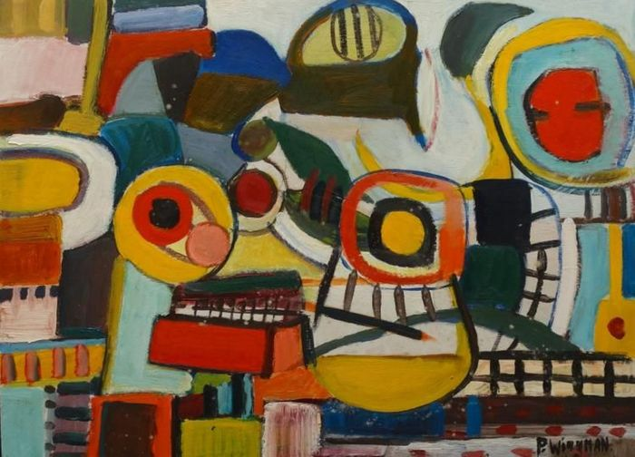 P J M Piet Wiegman - Abstract Composition for sale