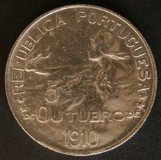 Portugal – 1 Escudo (silver) – 5th October 1910 – Lisbon