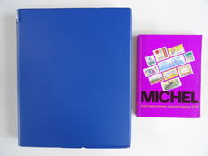 Australia 1984/1999 – Collection of machine strips in ringbinder with used Michel Spezial Katalog (2000)