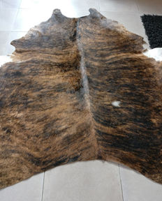 Cow hide - light brown and flamed