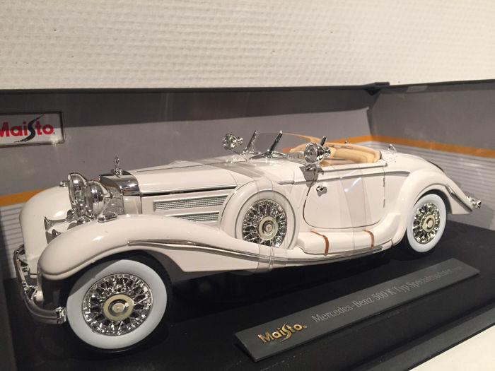 Maisto - Scale 1/18 - Mercedes-Benz 500K 1936 - White