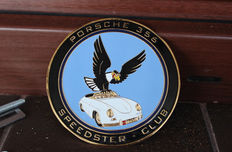 Porsche - Porsche 356 Speedster club - enamel badge car grille emblem