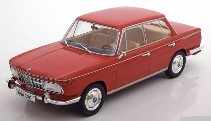 MCG Models - Scale 1/18 - BMW 2000 TI Typ 120 1966 - Colour: Red
