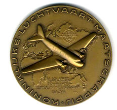 KLM - Uiver flight London-Melbourne 1934 - bronze Commemorative Medal