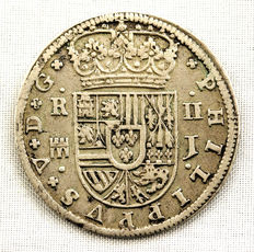 Spain – Felipe V – Two reales silver coin – 1717 – Segovia