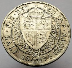United Kingdom - ½ Crown 1894 Victoria - silver