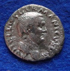 Roman Empire – Silver Denarius of Emperor Vitellius (69 A.D.), minted in Rome (N03)