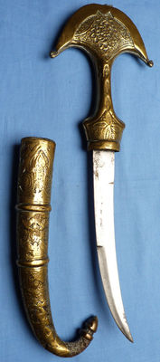 Large Antique Moroccan Jambiya-type Dagger