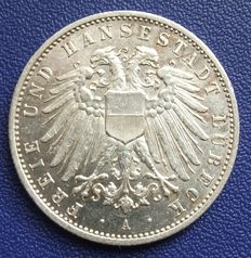German Empire, Lübeck – 2 mark 1905 A - silver