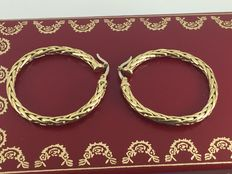 Vintage 18k loop designed earrings diameter 3,30cm