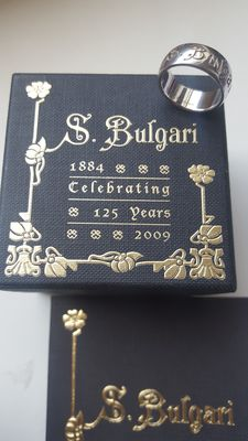 """Bulgari -  Silver ring """"Save The Children"""" limited edition 125 years,  Size 56 EU - No reserve price"""
