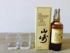Yamazaki 12 years old original including 2 glasses