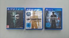 Lot of 3 PS4 Games - Dishonored 2 , Uncharted Collection and Uncharted 4