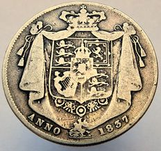 United Kingdom - ½ Crown 1837 William IV - silver