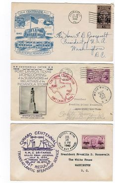 "Verenigde Staten 1932/1941 - ""The Franklin D Roosevelt Collection"": 10 Covers"