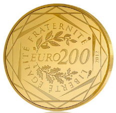 France - 200 euro gold / gold coin - regions France 2012 – In case with certificate