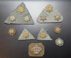 Netherlands rank insignia, embroidered with metal wire