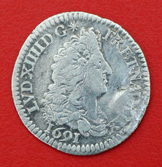 France - Louis XIV (1643-1715) - 1/12 d'écu aux 8 L, 1691 - A Paris - Silver